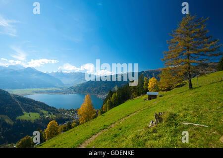 Zell am See Lake, Pinzgau im Salzburger Land, Austria - Stock Photo
