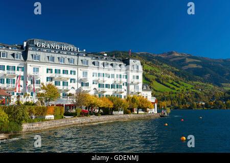 Grand Hotel in Zell am See, Pinzgau, Salzburger Land, Austria - Stock Photo