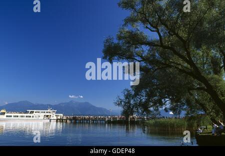 Frauenchiemsee, Lake Chiemsee, Chiemgau, Bavaria, Germany - Stock Photo