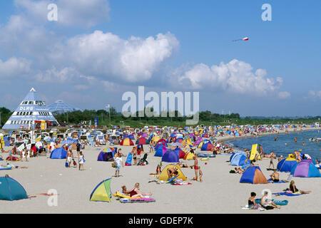 Beach of Damp, Schleswig-Holstein, Germany - Stock Photo