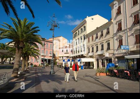 Piazza in Maddalena, Isola La Maddalena, Sardinia, Italy - Stock Photo