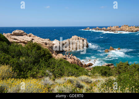 Capo Testa near Santa Teresa Gallura, Sardinia, Italy - Stock Photo