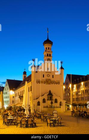 Town Hall in Kempten, Allgaeu, Bavaria, Germany - Stock Photo
