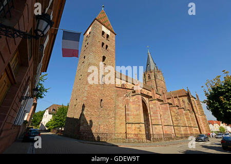 Church Saints Pierre et Paul, Wissembourg, Alsace, France / Weissenburg - Stock Photo