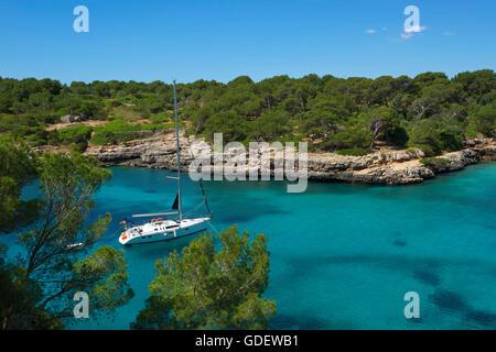 Cala Sa Nau, Majorca, Balearics, Spain - Stock Photo
