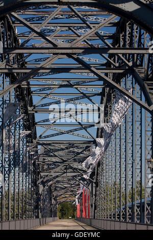 Old Harburg Elbe bridge, Harburg, Hamburg, Germany - Stock Photo