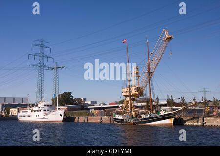 Harburg timber port, Hamburg, Germany, Europe - Stock Photo