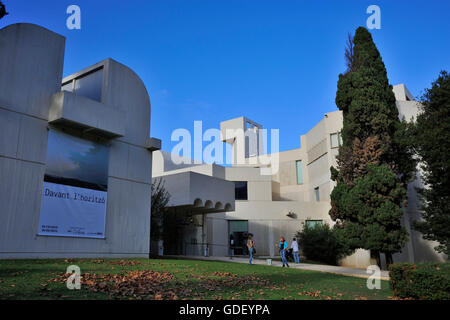 Fundacio Joan Miro, Barcelona, Catalonia, Spain - Stock Photo