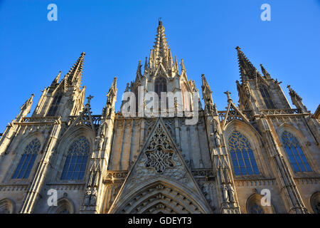 Cathedral, Barcelona, Catalonia, Spain - Stock Photo