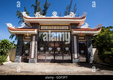 Entrance, Dieu An Pagoda, Thap Cham, Phan Rang, Ninh Thuan, Vietnam - Stock Photo