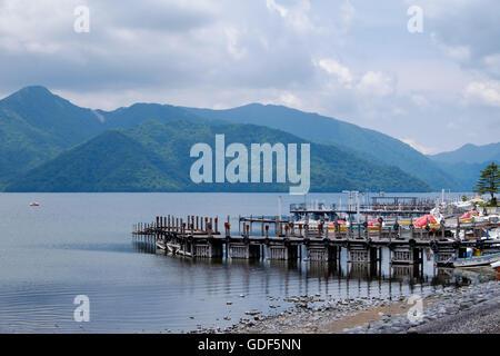 Lake Chuzenji in Nikko National Park, Japan.
