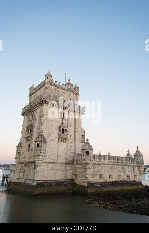 [Lisbon Portugal] LISBON, Portugal -- Built on a small island near the banks of the Tagus River just to the southwest - Stock Photo