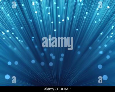 Fibre optics, illustration. - Stock Photo
