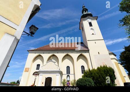 St. Peter in der Au: church, Austria, Niederösterreich, Lower Austria, Mostviertel - Stock Photo