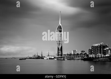 The Emirates Spinnaker Tower, Gunwharf Quays, Portsmouth, Hampshire, UK - Stock Photo