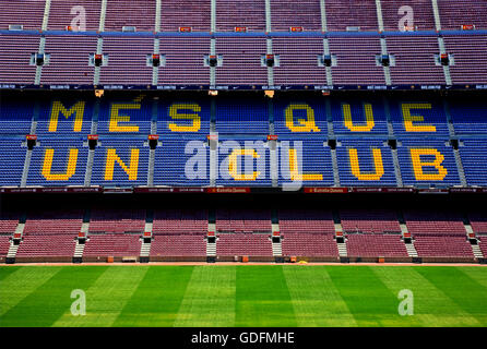 The Camp Nou, the football stadium of FC Barcelona. Barcelona city, Catalonia, Spain - Stock Photo