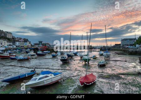 Sunrise at Brixham on the Devon coast - Stock Photo