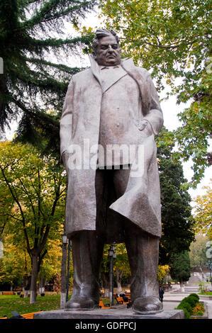 Giorgi Leonidze Statue in Park of the Tbilisi  Famous Georgian Poet in Georgia - Stock Photo