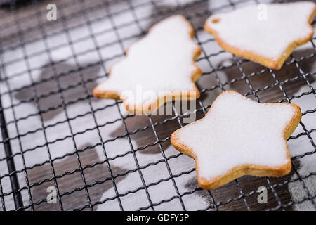 xmas cookies on the grill - Stock Photo