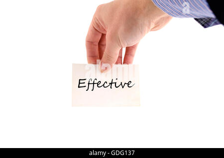 Effective text concept isolated over white background - Stock Photo