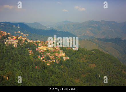 Scenic view of Shimla (Himachal Pradesh, India) - Stock Photo