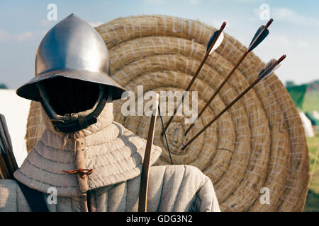 Hit the target, archery - Stock Photo