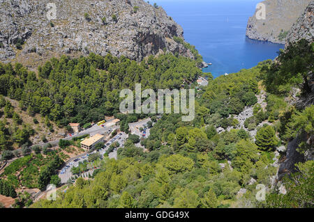 Port of Sa Calobra, Majorca, Balearic Islands - Stock Photo