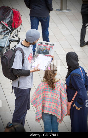 Black Lives matter demonstration in Liverpool City Centre, Merseyside, UK - Stock Photo