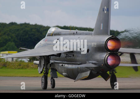 English Electric Lightning F6 at Bruntingthorpe airfield - Stock Photo