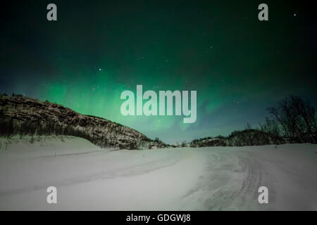 Aurora Borealis, Northern Lights from Alta, Norway. - Stock Photo
