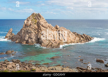 Sugarloaf Rock, a famous coastal landmark near the town of Dunsborough in South-West Australia. - Stock Photo