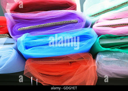 tulle cloths, colors and fashion - Stock Photo