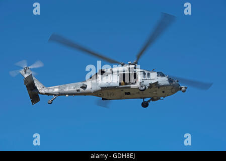 USN Sikorsky MH-60S Seahawk (Knighthawk) 167872-BR-33 (HSC-28 – Helicopter Sea Combat Squadron 'Dragon Whales'  - Stock Photo