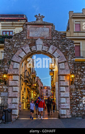 Italy Sicily Taormina,  Messina Gate - Stock Photo