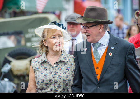 Woodhall Spa, Lincolnshire, UK.  16th July, 2016.  The fifth annual Woodhall Spa 1940s Festival attracts 20,000 - Stock Photo