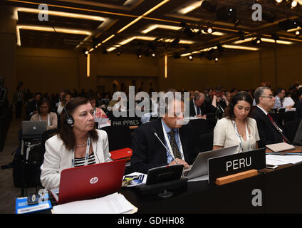 Istanbul, Turkey. 17th July, 2016. Delegates review the nominated project during the 40th World Heritage Committee - Stock Photo