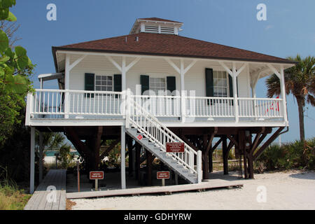 Gasparilla Island State Park on the Florida Gulf Coast - Stock Photo