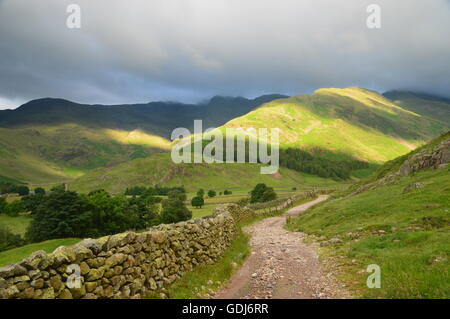 Path leading into Mickleden from Langdale in The English Lake District