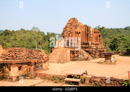 My Son temple ruins in Hoi An, Vietnam. - Stock Photo