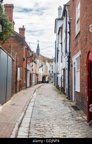 Middle Street Faversham Back Street Kent England UK - Stock Photo