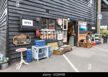 Antique Shop Standard Quay Faversham Kent UK - Stock Photo