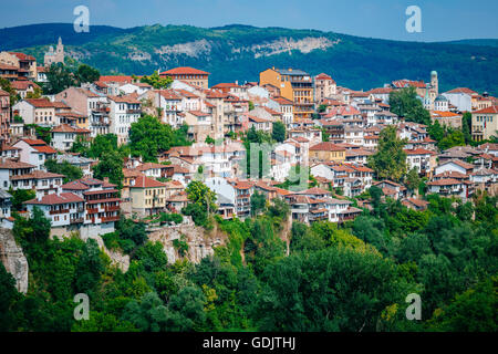 View of Veliko Tarnovo, a city in north central Bulgaria Stock Photo