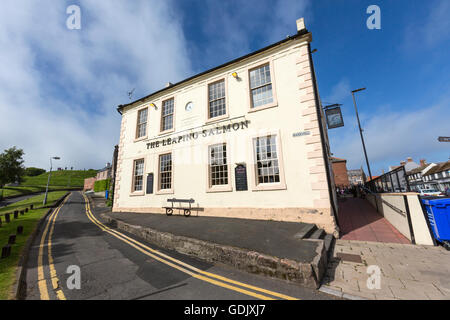 The Leaping Salmon pub and restaurant in Berwick-upon-Tweed, Northumberland, England, UK - Stock Photo