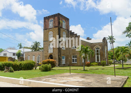 View of St John's Anglican Cathedral in Belize City. - Stock Photo