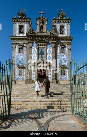 Igreja de Santo Ildefonso, St. Ildefonso Church, Porto, UNESCO World Heritage Site, Oporto, Porto Disctrict, Portugal, - Stock Photo