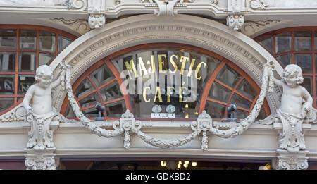 Café Majestic, art nouveau cafe, tavern, dining restaurant, Porto, District of Porto, Portugal, Europe, Travel, - Stock Photo