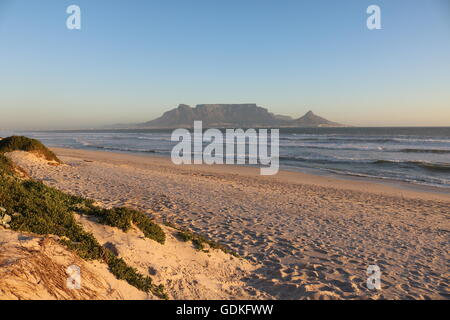 sunset over table mountain cape town south africa - Stock Photo