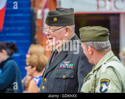 Woodhall Spa 1940s Festival - American officers - Stock Photo