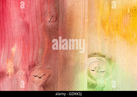 Texture of painted multi colored Wood Planks Background - Stock Photo
