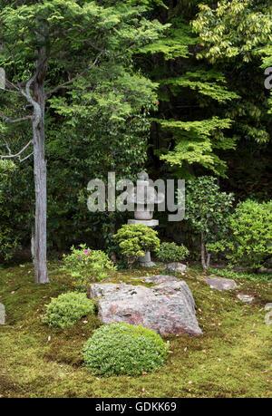 Gardens of Nanzen-ji Zen Buddhist temple in Kyoto, Japan - Stock Photo
